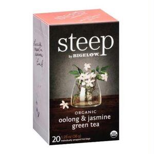 Steep By Bigelow BWA66761 Organic Oolong & Jasmine Green Tea, 20 Bag - Pack of 6