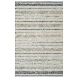 Dynamic Rugs OK248370109 Oak 2 x 4 ft. Modern Cotton & Wool Area Rug - Ivory & Grey