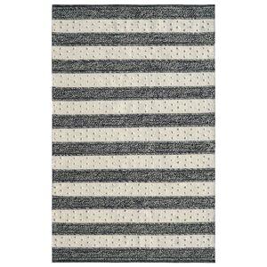Dynamic Rugs OK248375199 Oak 2 x 4 ft. Modern Cotton & Wool Area Rug - Ivory & Charcoal