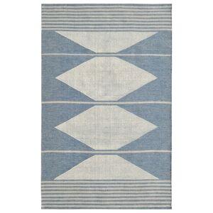Dynamic Rugs OK8108374501 Oak 8 x 10 ft. Modern Cotton & Wool Area Rug - Blue & Ivory