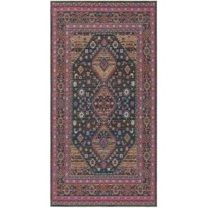 Safavieh CLV114N-4 Classic Vintage Traditional Rectangle Power Loomed Rugs, Navy & Pink - 4 x 6 ft.