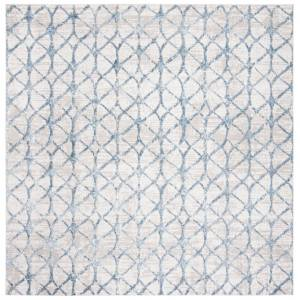 Safavieh ALA792F-7SQ 6 ft. 7 in. x 6 ft. 7 in. Amelia Square Power Loomed Area Rug, Grey & Blue
