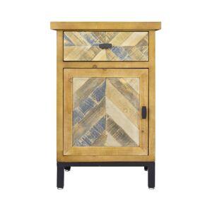 Heather Ann Creations W191404-018 Barnes 1-Drawer, 1-Door Parquet Accent Cabinet