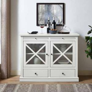 Crosley CF6121-WH 32.75 x 42.12 x 15.75 in. Jackson Accent Cabinet - White