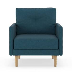 NyeKoncept 50160662 Cross Weave Bristol Armchair, Yale Blue & Natural
