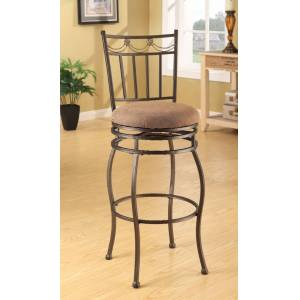 NewestEdition Chair with Swivel Bar, Brown - Set of 2