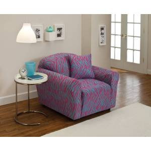 Madison Industries Madison JER-CHAIR-ZE Stretch Jersey Chair Slipcover, Zebra