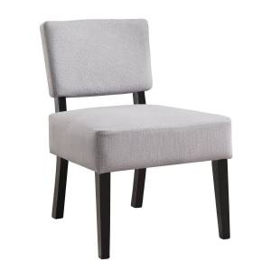 monarch I 8276 Accent Chair, Light Grey Fabric