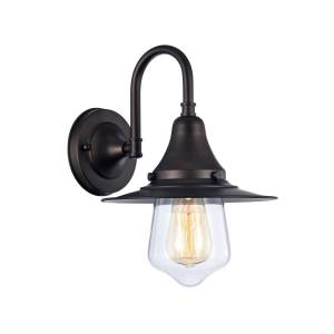 Chloe CH57054RB09-WS1 9 in. Lighting Butler Industrial-Style 1 Light Wall Sconce - Oil Rubbed Bronze