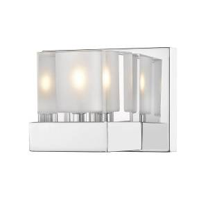 Z-Lite 467-1S-CH-LED Fallon Contemporary 1 Light Wall Sconce - Chrome, Clear & Frosted