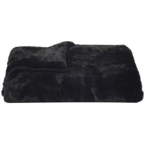 Safavieh THR701A-5060 50 x 60 x 2 in. Faux Black Mink, Black