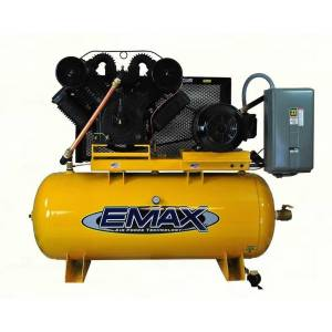 EMAX EP25H120V3 25 HP 3 Phase 2 Stage 120 gal Stationary Electric Air Compressor