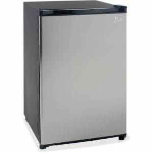 Avanti AVARM4436SS 43 CF Refrigerator, Glass Shelf - Black