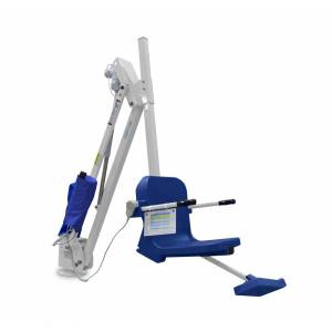 Aqua Creek Products F-MTY600 600 lbs Mighty 600 Lift without Anchor, White with Blue Seat