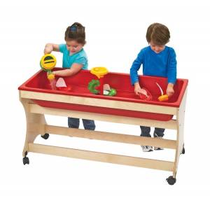 Angeles Corporation Angeles ANG9029 Value Line Birch Sand & Water Table - UV Finish, 35 x 12 x 48 in.