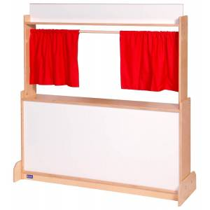 Angeles Corporation Angeles ANG1037W Brich Puppet Theatre Store - Dry Erase - 8 x 28 x 48 in.