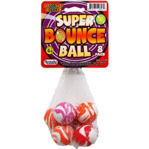 DDI 2340864 Super Bounce Balls - 8 Pack - Assorted Colors Case of 96