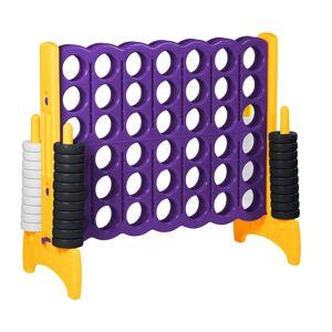 Ecr4Kids ELR-12542 Jumbo 4-To-Score Giant Game, Purple & Gold