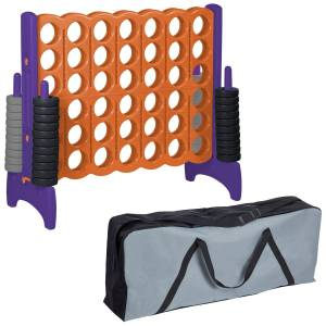Ecr4Kids ELR-12544 Jumbo 4-To-Score College Giant Game, Orange & Purple
