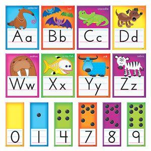 Trend Enterprises T-8265BN Awesome Animals Alphabet Bulletin Board Set, Set of 2