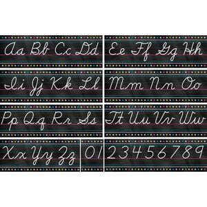 Teacher Created Resources TCR5858BN Chalkboard Brights Cursive Writing Bulletin Board Display Set - Set of 2