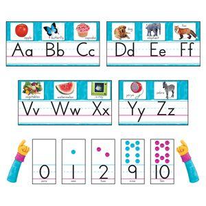 Trend Enterprises T-8431BN Color Harmony Photo Alphabet Bulletin Board Set, Set of 2
