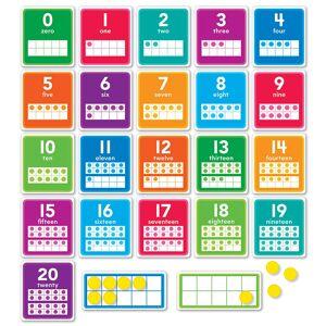 Scholastics Teacher Scholastic Teaching Resources SC-834492BN 0-20 Numbers Bulletin Board Set - Set of 2