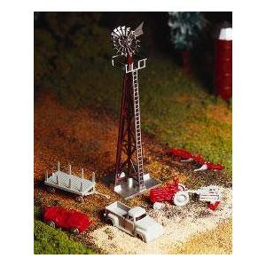 BACHMANN BAC45603 O Scale Windmill with Farm Machine Kit