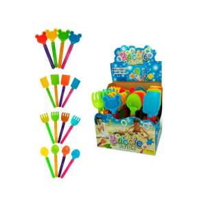 Playtime Sand Toy Bubble Stick Counter Top Display, 128 Piece