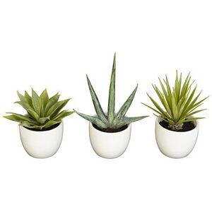Kirkland's Faux Agave Plants in Ceramic Pots, Set of 3