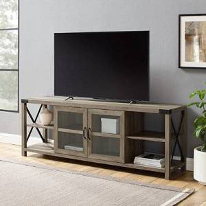 Kirkland's Gray Washed X Frame TV Stand