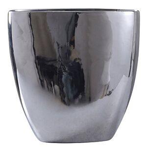 Kirkland's Large Chrome Ceramic Vase, 16 in.