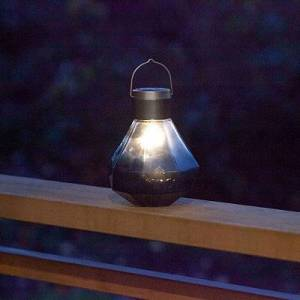 Kirkland's Smoke Gem Glass Solar Lantern