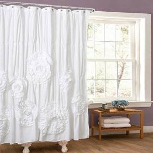 Kirkland's Serena White Shower Curtain