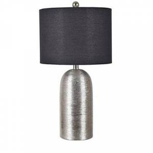 Kirkland's Silver Ceramic Urn with Black Shade Table Lamp