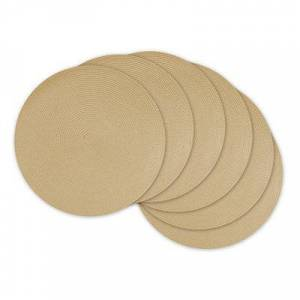 Kirkland's Natural Woven Round Placemats, Set of 6