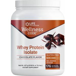 Life Extension Wellness Code® Whey Protein Isolate, Chocolate (437 Grams)