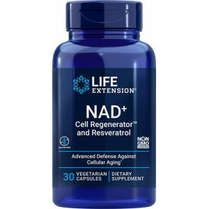 Life Extension NAD+ Cell Regenerator™ and Resveratrol - 300 mg (30 Vegetarian Capsules)