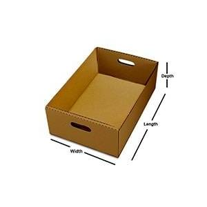 Paper Mart 275# Rectangular Tote Tray - 18 X 12 X 6 - Cardboard - Quantity: 25 - Storage Boxes by Paper Mart