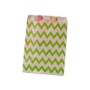 Paper Mart Green Zig Zag Merchandise Bags - 8-1/2 X 11 - Quantity: 100 - Paper Merchandise Bags - Type: Zig Zag by Paper Mart