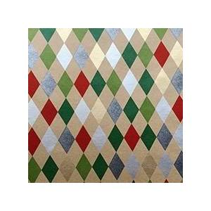 Paper Mart Holiday Harlequin Gift Wrap - 24 X 208' - Gift Wrapping Paper by Paper Mart
