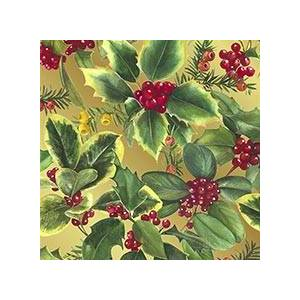 Paper Mart #m8813 Holly & Berries - Gift Wrap - 26 X 833' - - Gift Wrapping Paper by Paper Mart