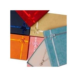 """Paper Mart Jewelry Boxes Colored - 7-1/8"""" X 5"""" - Cotton - Quantity: 6 - Jewelry Boxes - Usage : Necklaces by Paper Mart"""