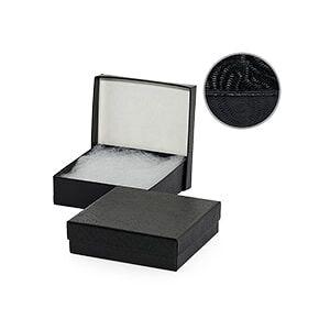 Paper Mart #35 Black Swirl Jewelry Box - 3-5/8 X 2-5/8 X 1-1/4 - Cardboard - Quantity: 100 - Jewelry Boxes by Paper Mart