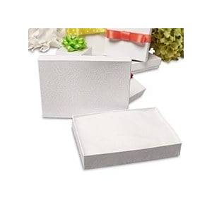 Paper Mart #54 White Swirl Jewelry Box - 5-1/4 X 3-3/4 X 1-3/4 - Lace - Quantity: 100 - Jewelry Boxes - Size: #54 by Paper Mart