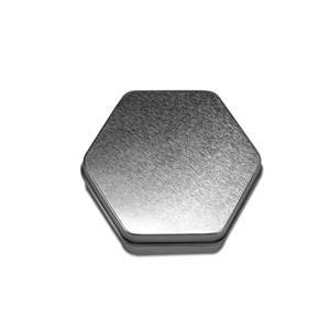 Paper Mart Metal Hexagonal Steel Tin Can - Quantity: 24 - Tins Width: 3 1/4 Height/Depth: 1 Length: 3 1/4 by Paper Mart