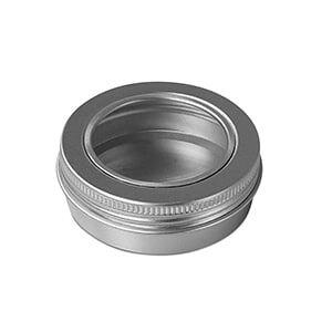 "Paper Mart Metal 3 Oz Window Aluminum Tin Can - Quantity: 768 - Tins - Diameter: 2 11/16"" Height/Depth: 1 3/8"" by Paper Mart"