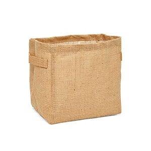 Paper Mart Natural Burlap Storage Basket - 9 X 7 X 9 - Quantity: 6 - Reusable Bags - Type: Natural Burlap by Paper Mart