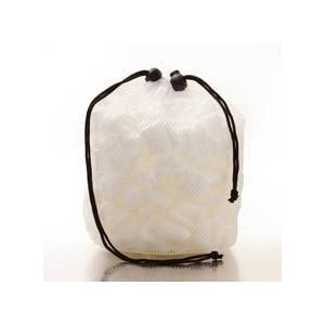 Paper Mart Cosmetic White String Net Bags W/ Shower Loop - 5 X 5 X 9 - Gusset - 5 - Quantity: 20 - Fabric Bags by Paper Mart