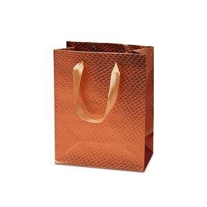 """Paper Mart Gold Metallic Snk Skn Eurot - 10-1/4 X 4-3/4 X 12-5/8 - Satin Gusset - 4 3/4"""" by Paper Mart"""